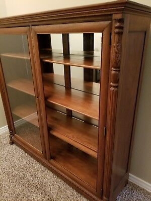 Antique Glass and Mirror Curio Cabinet  Traditional Curio Cabinets