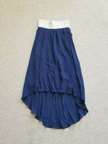 BTWEEN Long Navy Cotton Skirt size 14 VGUC