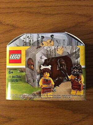 Lego Caveman and Woman Promotional Set 5004936 NIB Great For Display Or Play!