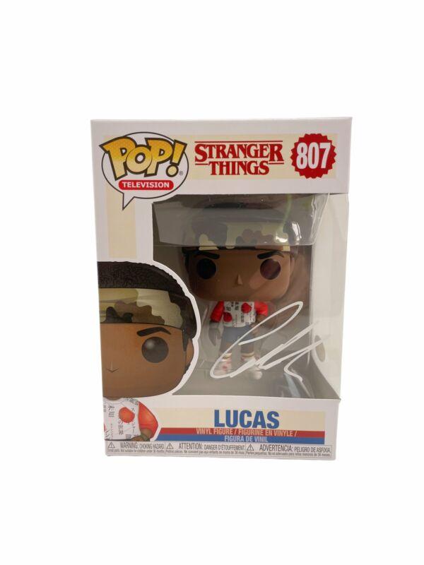 Caleb McLaughlin Autograph Funko POP Stranger Things #807 Lucas Signed JSA COA
