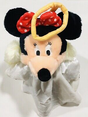 """Disney Store Angel Minnie Mouse 13"""" Plush Christmas Tree Topper DN 21700"""