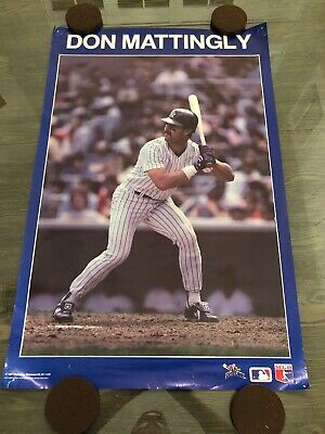 908666af34e4aa Vintage Don Mattingly 1988 NY Yankees Original Starline MLB Action Poster