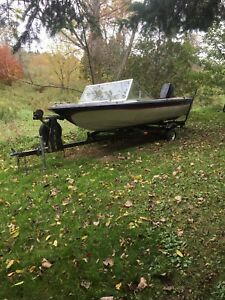 15' boat, 50hp evinrude outboard