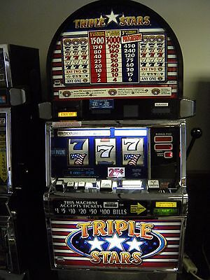 """IGT S2000 COINLESS SLOT MACHINE """"TRIPLE STARS 3 REEL"""""""