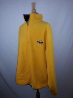 Nautica Competition Fleece Pull Over 1/4 Zip XL Yellow Blue USA