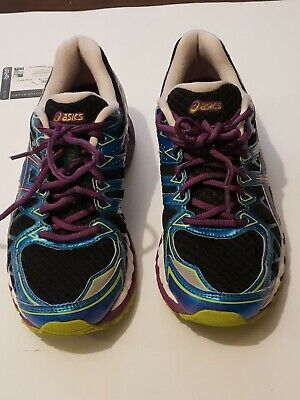 ASICS Gel Kayano 20 Women's Size 7 T3N7N Black/Plum/Blue Running Shoe Sneaker