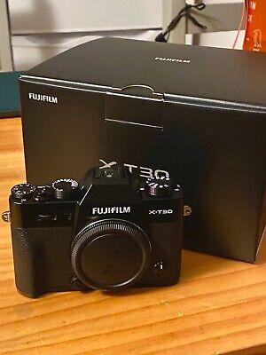 Fujifilm XT-30 camera body (original packaging included + unopened accessories)