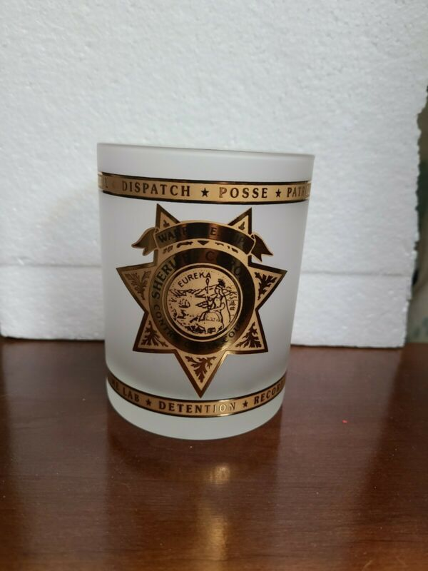 Contra Costa County Sheriff  Dept. Collectible Beverage Glass by Kaplan Kent Co.