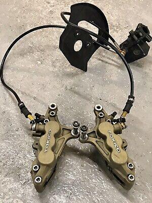 Kawasaki ZX12R Ninja Front Brake Caliper Set Hoses Master Cylinder Assembly OEM