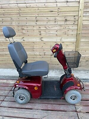 Mid Size Red Freerider Mayfair 4mph Mid Size Mobility Scooter