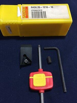 New Sandvik R430.26-1216-16 Indexable Insert Holder Cartridge Drilling