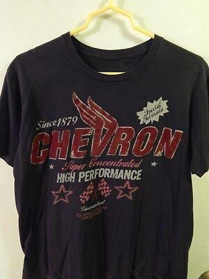 CHEVRON Since 1879 High Performance Oil [SIZE: L] The Raw Uncut T-SHIRT Ltd Auto