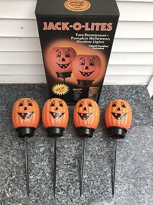 LampLight Farms Halloween JACK-O-LITES Pumpkin Blow Mold Outdoor Lights Candle