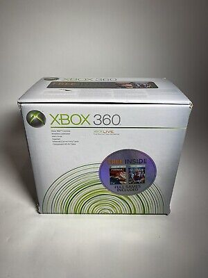 MICROSOFT XBOX 360 CONSOLE WHITE IN BOX W/ 2 CONTROLLERS, POWER CABLES, & MORE!