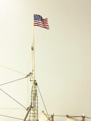 Diy Nautical Decor (U.S 13 Star Flag 1/92 scale for ship models. DIY Genuine Vintage Embroidered.)