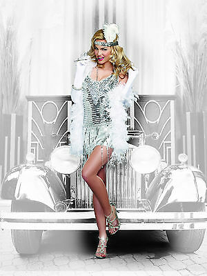 Sexy Dreamgirl Adult Women's Halloween Life's a Party Sequin Flapper Costume](A Flapper Halloween Costume)