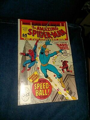1988 MARVEL THE AMAZING SPIDER-MAN ANNUAL #22 1ST APPEARANCE SPEED-BALL comics