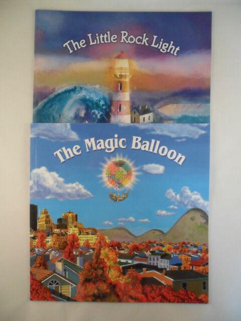 SET 2 TODDLER CHILDRENS PICTURE STORY BOOKS LITTLE ROCK LIGHT & MAGIC BALLOON