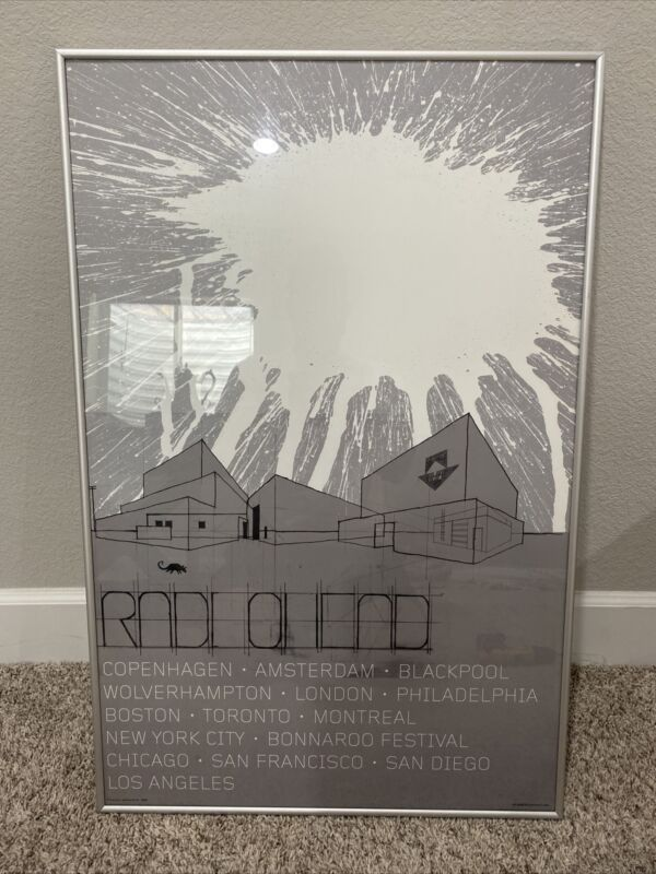 Framed Radiohead 2006 Tour Poster Board
