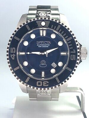 Men's Invicta Watch #19799 Grand Diver Automatic Blue Face White Silver Tones