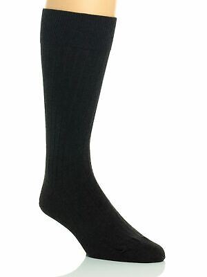 Calvin Klein Men's Classic Rib Cotton Dress Crew Socks a9050 - Graphite Heather