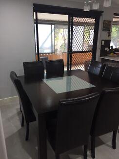 Dark Wood Dinning Table