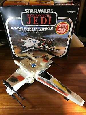 Vintage Star Wars ROTJ 1983 Kenner X-wing fighter complete with original box