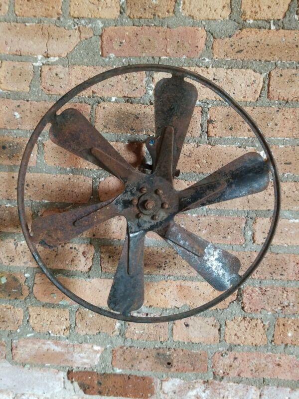Vintage 16 inch Fan Blades Rusty Truck Factory Machine Industrial Iron exhaust