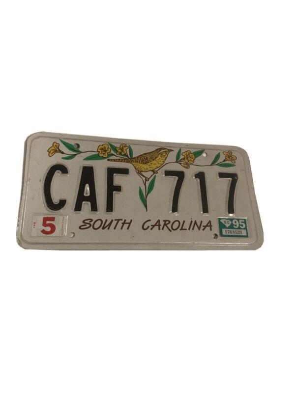 Vintage South Carolina License Plate CAF-717