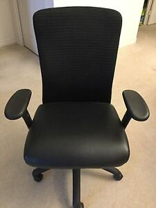 Desk chair with rolling plastic mat included