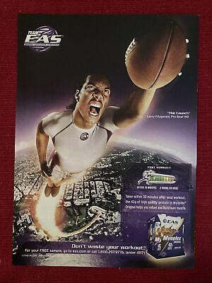 Arizona Cardinals Larry Fitzgerald for EAS Myoplex Protein 2006 Ad/Poster Art Ad