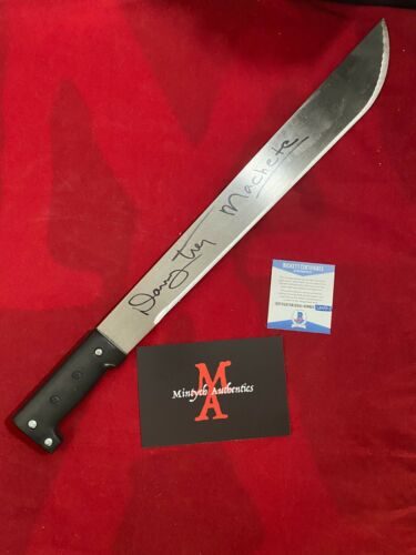 "DANNY TREJO AUTOGRAPHED SIGNED REAL STEEL 18"" MACHETE! BECKETT COA! MACHETE!"