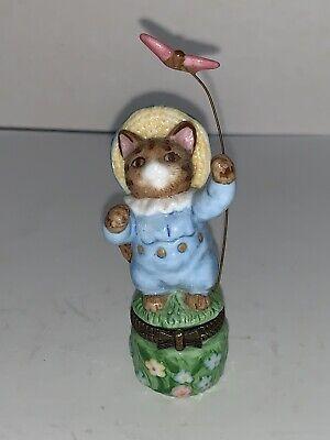 1998 F W & Co. TOM KITTEN Trinket Box BEATRIX POTTER Tale of Peter Rabbit Cat