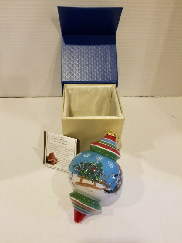 "2017 Pier 1 Imports Li Bien ""PENGUINS"" Ornament  NIB"