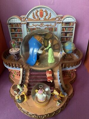 Disney Snowglobe w/ Blower Beauty & The Beast There's Something There Library