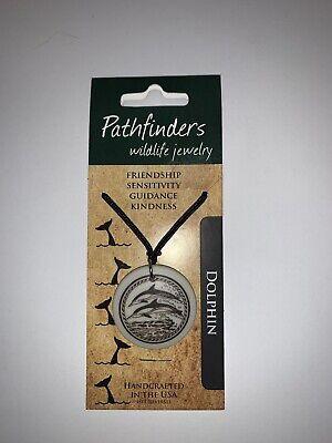 Pathfinders Wildlife Necklace Jewelry Dolphin White Pendant