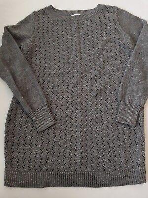 liz lange maternity Shirt Sweater Size S small Grey metallic