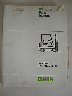 Clark Electric Fork Lift Truck Parts Manual Book Hwp465 Copyright 1976