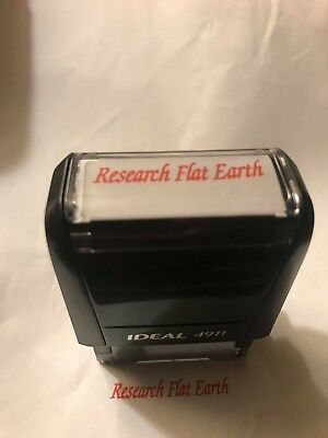 Research Flat Earth Money Stamper - Self Inking - Red Ink - FE Activism ---- NEW