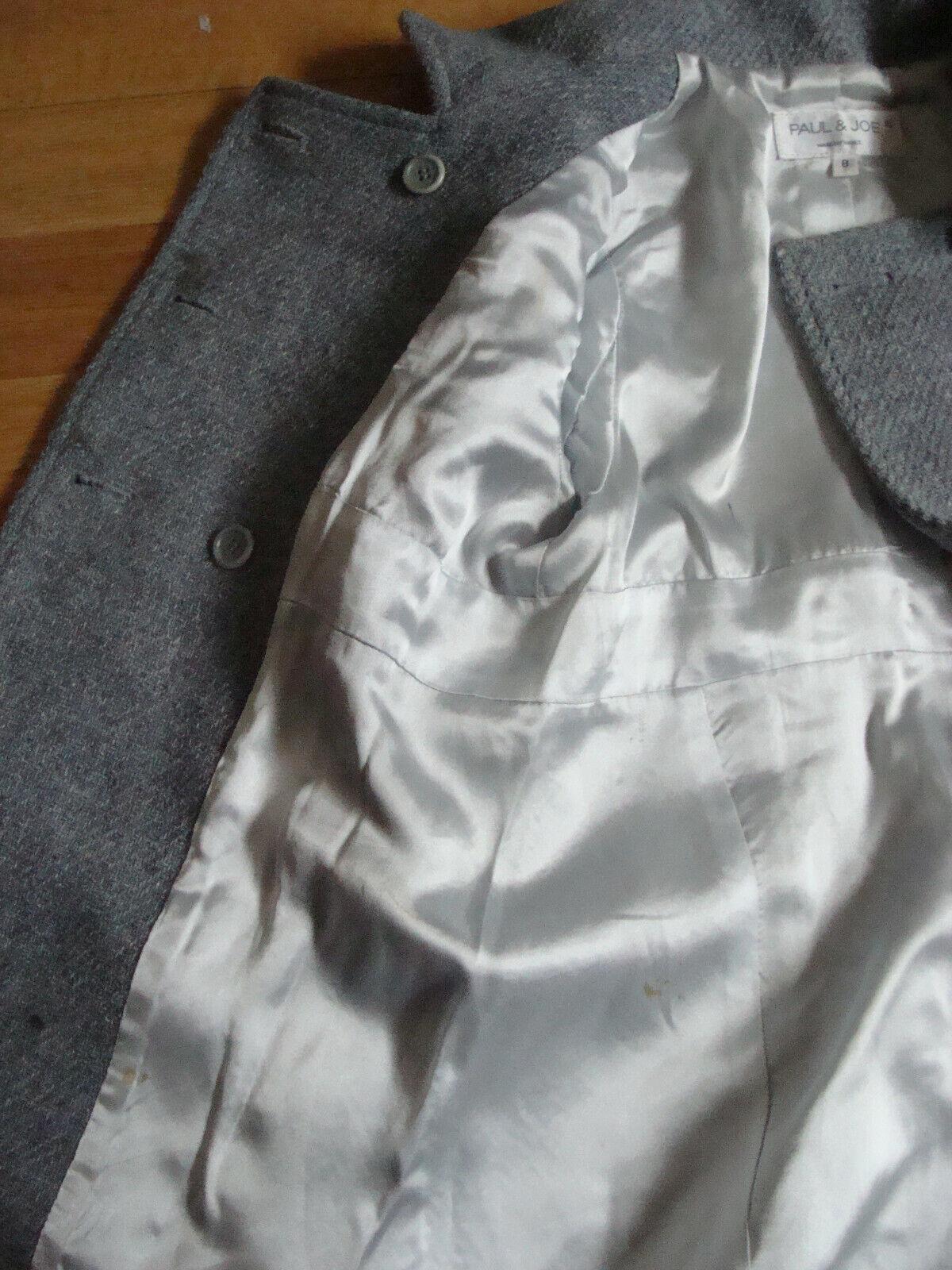 Manteau gris paul & joe 8 ans laine #ckdb