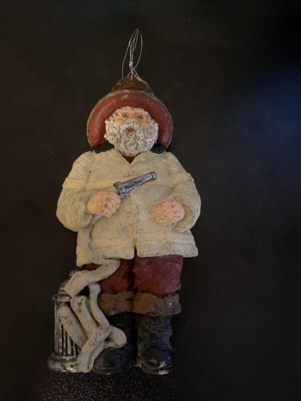 June McKenna 1996 Fireman Santa Ornament