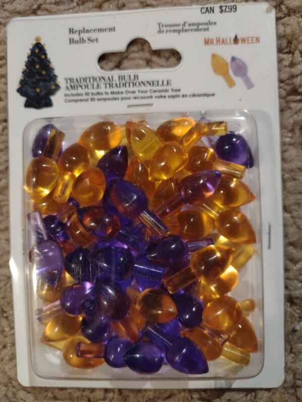 Mr. Halloween Ceramic Tree Replacement Bulbs Purple Orange NEW