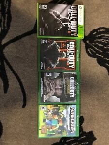 Xbox one, ww2 bo2&3 and minecraft favourites pack