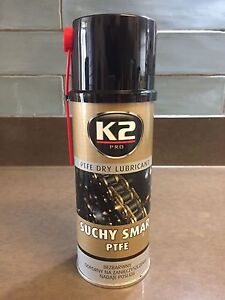 K2 PTFE Dry Lubricant Clear Teflon Grease Spray NO SILICONE Long Protection