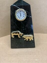 Bey Berk Stock Market, Black Zebra Marble Clock