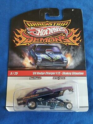 2010 Hot Wheels Demons 69 DODGE CHARGER FUNNY CAR Shakey Situation LITTLE BENDS