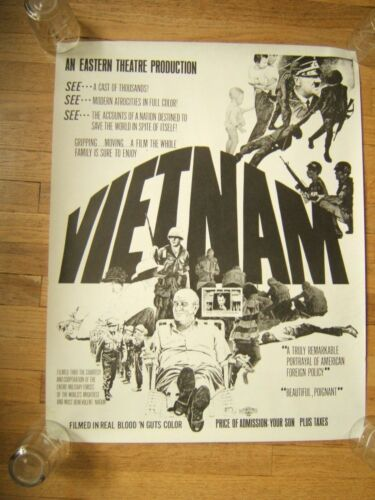 VINTAGE ORIGINAL ANTI WAR VIETNAM POSTER EASTERN THEATRE PRODUCTIONS