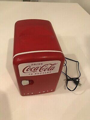 Coca cola mini can fridge Table Top Counter Top Mobile Mini Refrigerator