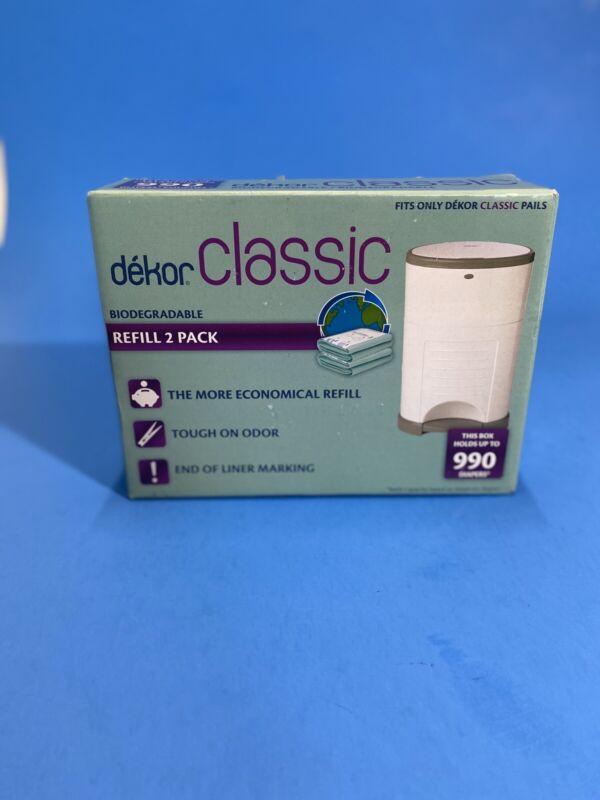 Dekor Diaper Bags Refills Biodegradable Two (2) Pack Classic NOB