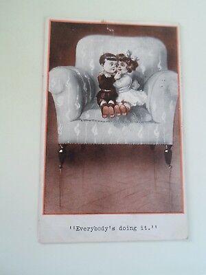 "QUAINT KIDS No 237 Vintage Postcard Franked 1913 ""Everybody's Doing It"" §B1549"